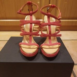 Dsquared2 Red Sandals New In Box
